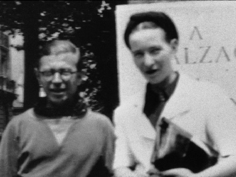 Simone de Beauvoir et Jean-Paul Sartre.