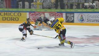 Finale, acte V, HC Lugano - CP Berne (1-2): Berne prend l'avantage avec ce but inespéré de Cory Conacher [RTS]