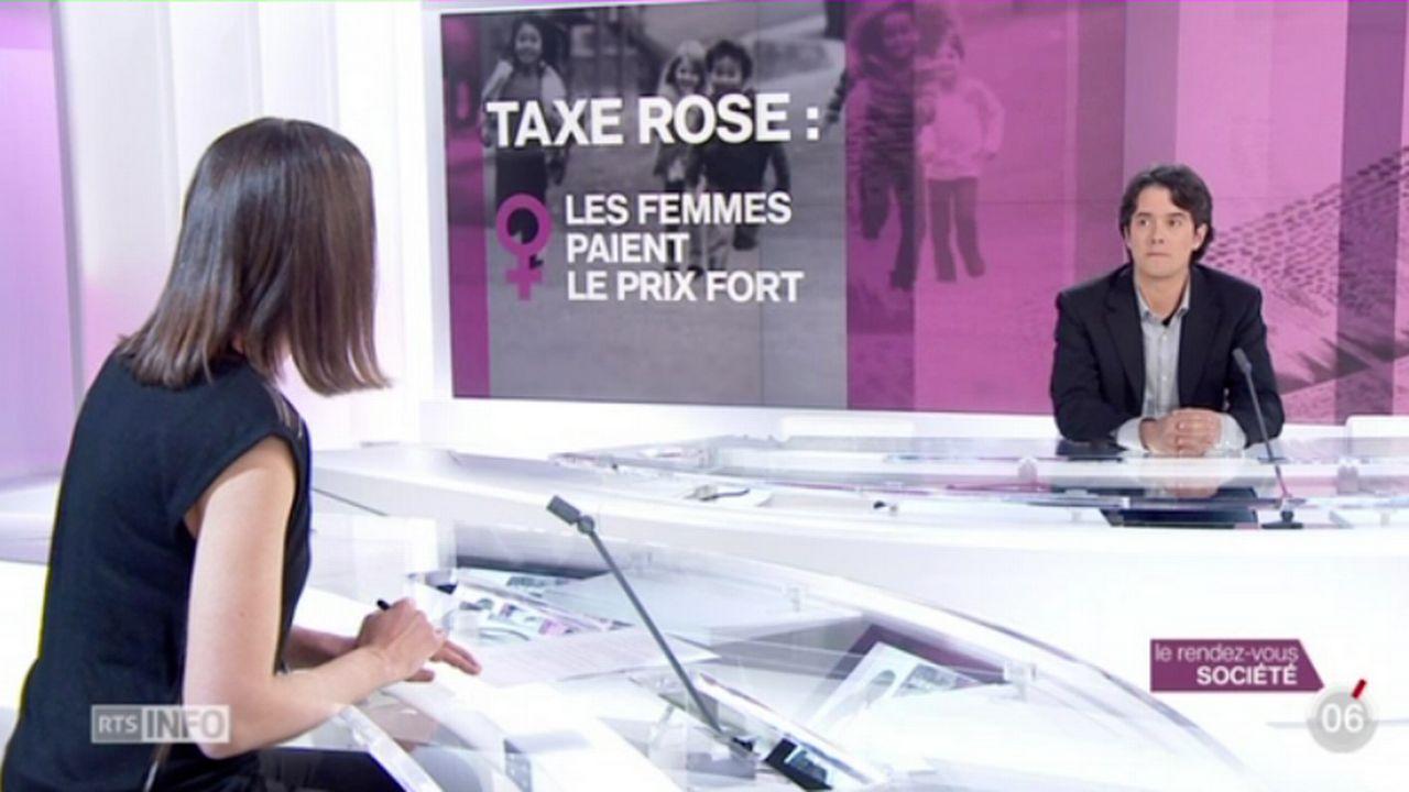 Le rendez-vous société: Jean-Christophe Schwaab mène un combat contre la taxe rose [RTS]