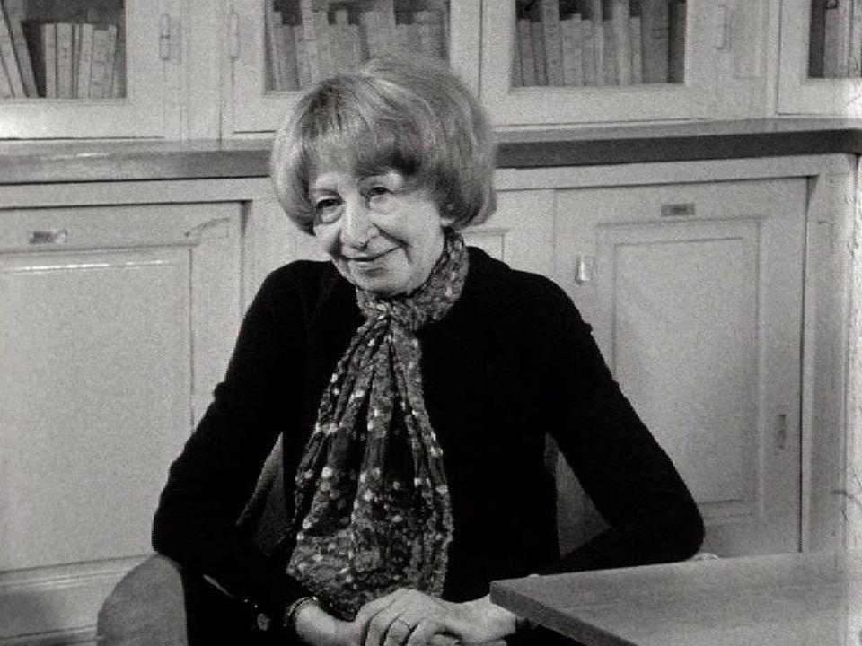 Violette Leduc en 1970. [RTS]