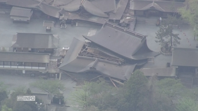 Dégâts causés par le deuxième séisme au Japon [RTS]