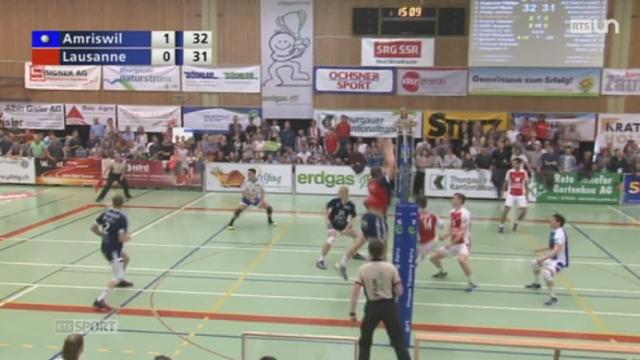 Volley: Amriswil remporte le troisième acte de la finale face à Le LUC [RTS]