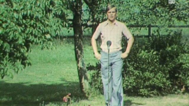 Armailli chantant le Ranz des vaches en 1977. [RTS]