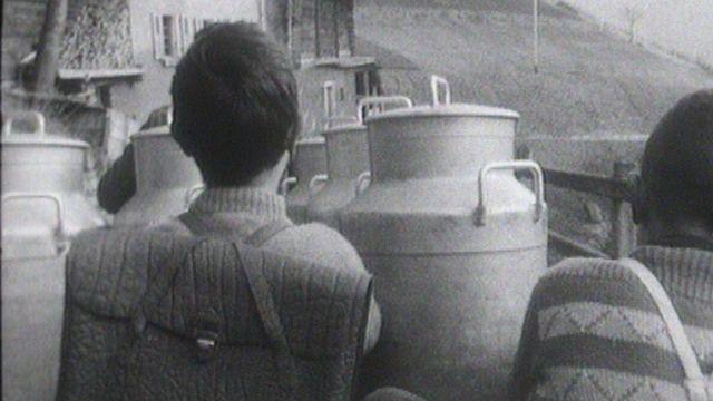 Le village de la Rosière en 1964. [RTS]