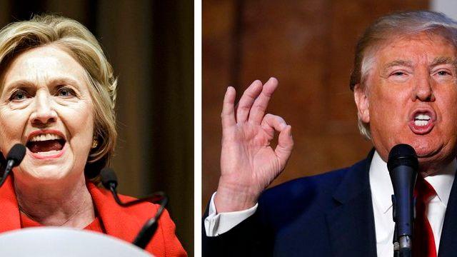 Hillary Clinton et Donald Trump vainqueurs à New York. [Justin Lane/Andrew Gombert - EPA/Keystone]