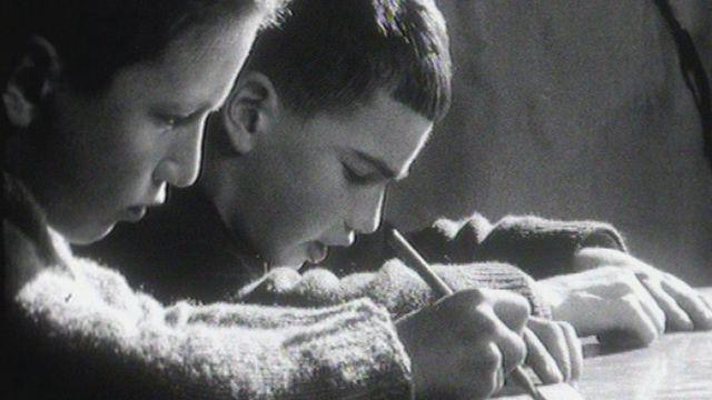 Enfants de la Rosière en 1964. [RTS]