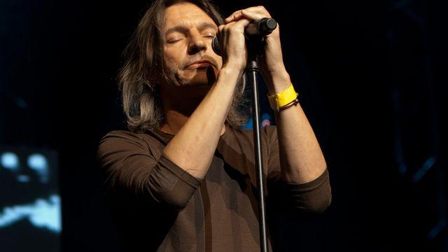 Franz Treichler, co-fondateur du groupe The Young Gods, a remporté l'édition 2014 du Grand Prix suisse de musique. [Jérôme Genet - RTS]