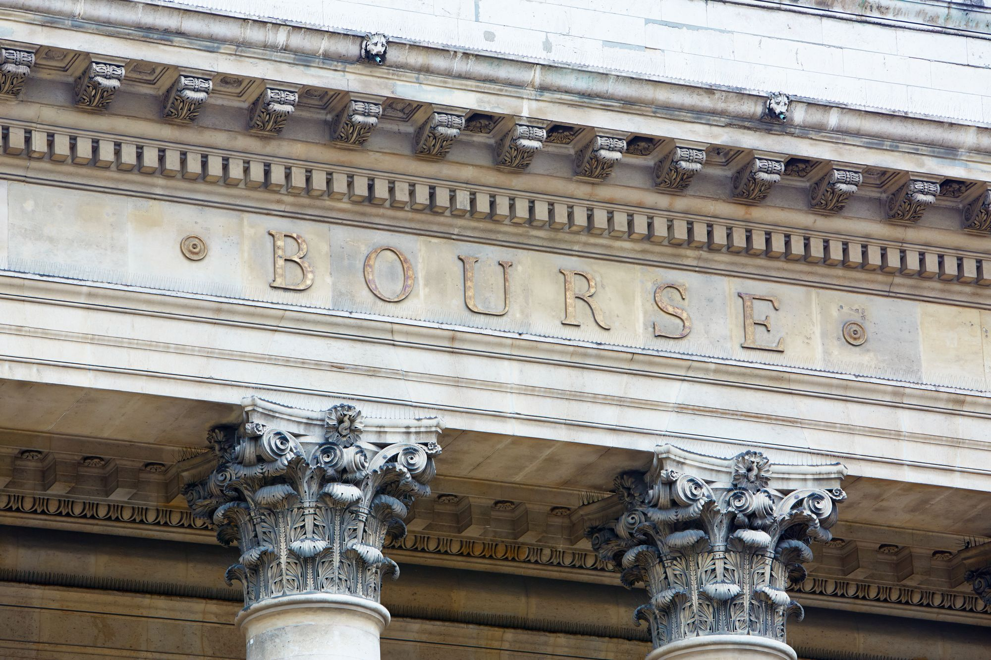 Le bâtiment de la Bourse de Paris.