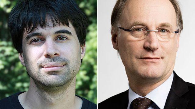 Samuel Bendahan et Yves Nidegger. [RTS/Keystone]