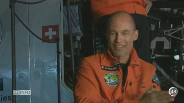 Solar Impulse: Bertrand Piccard traverse l'océan pacifique en 62 heures [RTS]