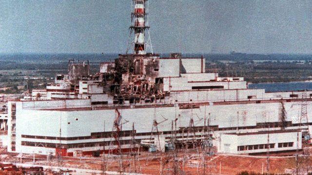 Une photo non datée de Tchernobyl après l'explosion. [AP Photo/Tass - Keystone]