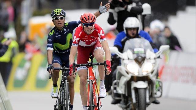 """Quintana s'est fait """"tassé"""" par Zakarin dans le sprint final. [Fabrice Coffrini - AFP]"""