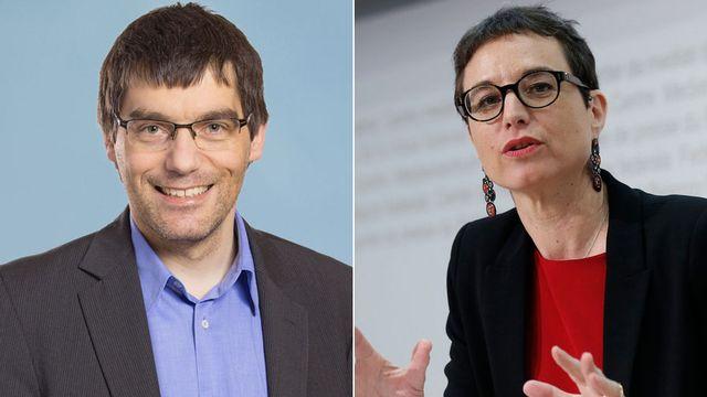 Roger Nordmann et Zeynep Ersan Berdoz. [Keystone]