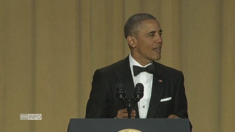 Obama se paie la t te de donald trump au d ner de la for Au coeur de la maison blanche barack obama