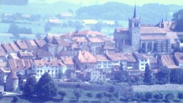 La ville de Romont en 1971. [RTS]