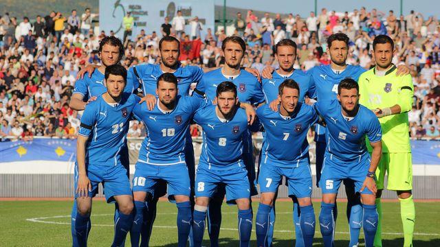 L'équipe nationale du Kosovo ici lors d'un match amical en 2014. [NurPhoto - AFP]
