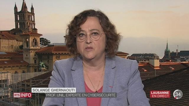 Piratage de Ruag: entretien avec Solange Ghernaouti à Lausanne [RTS]