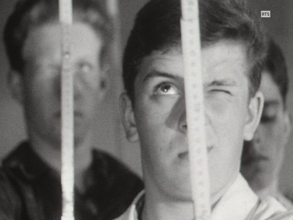 Apprentis maçons en 1962. [RTS]