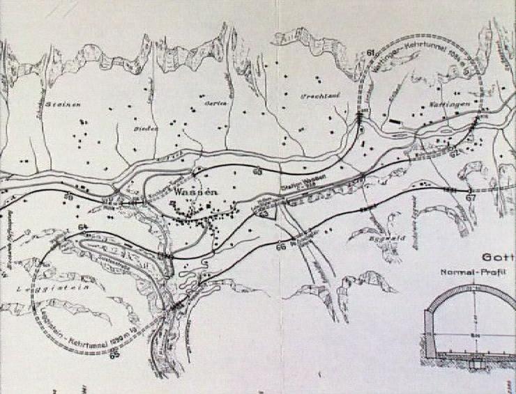 Gothard, les tunnels hélicoïdaux