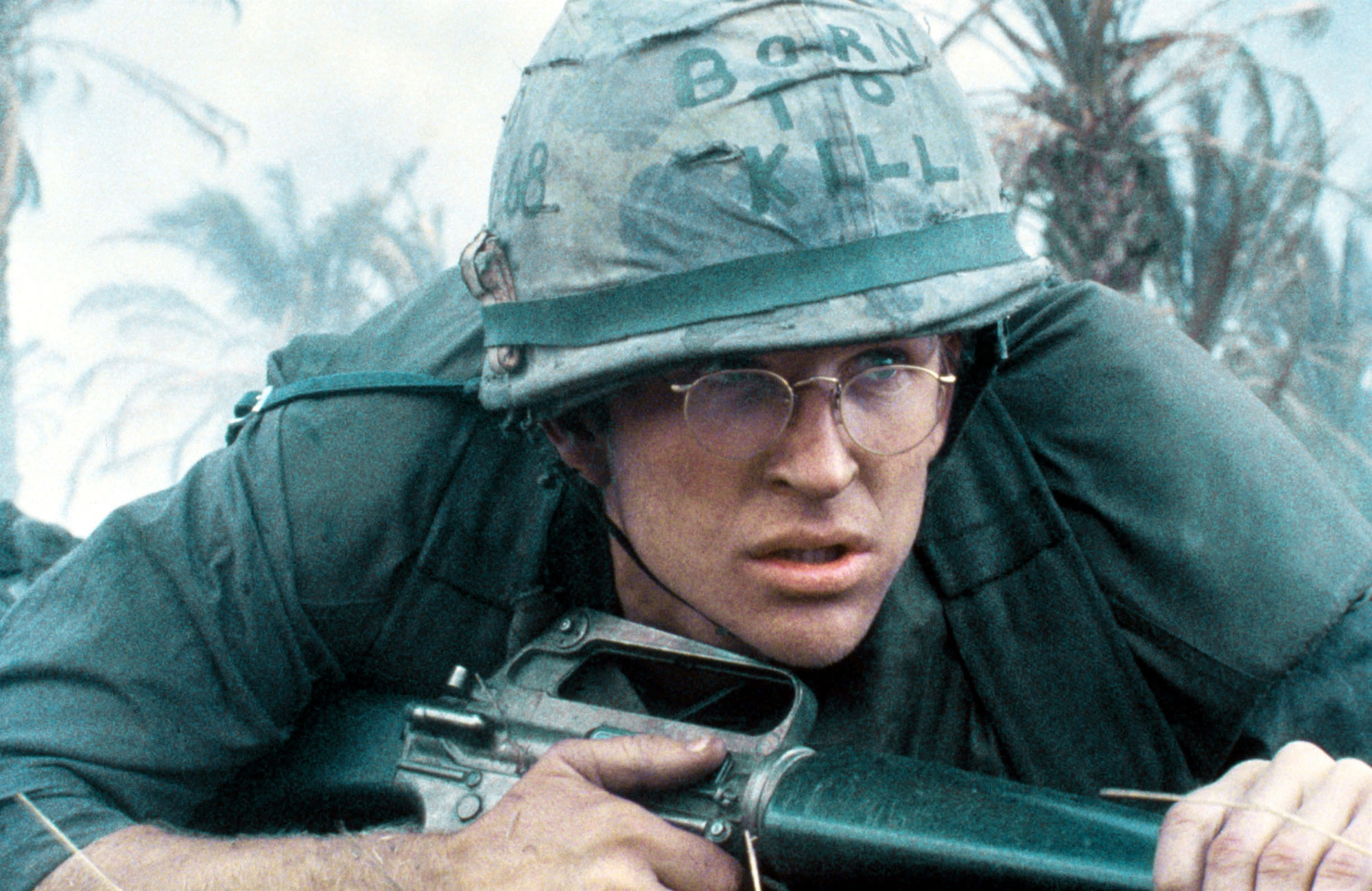 "Matthew Modine dans ""Full Metal Jacket"" de Stanley Kubrick, 1987."