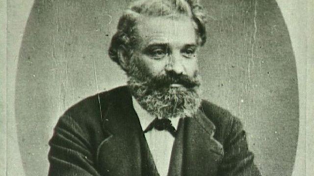 Portrait du genevois Louis Favre, constructeur du premier tunnel ferroviaire du Gothard. [RTS]