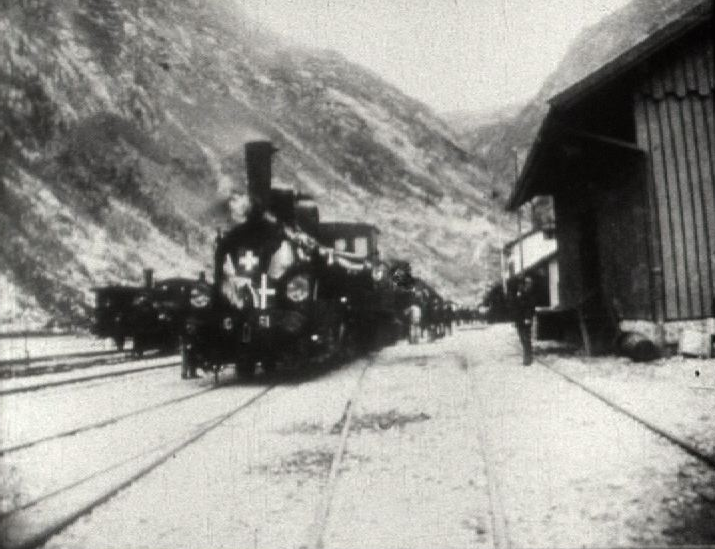 Inauguration du premier tunnel ferroviaire du Gothard