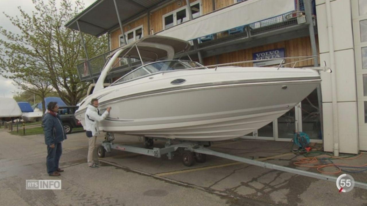 Les bateaux privés sont de plus en plus gros et de plus en plus luxueux sur les lacs romands [RTS]