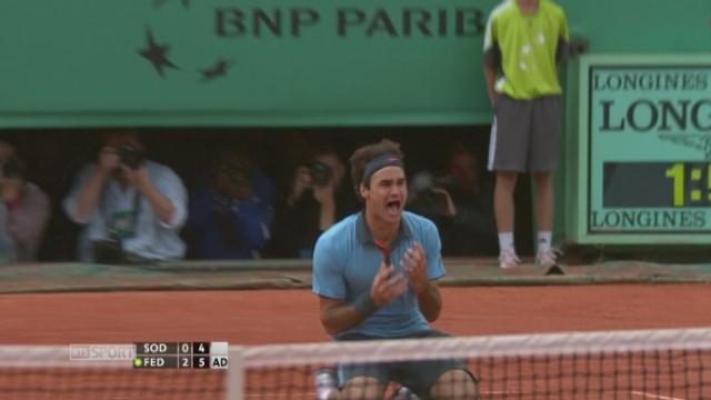 Roger Federer gagne [RTS]