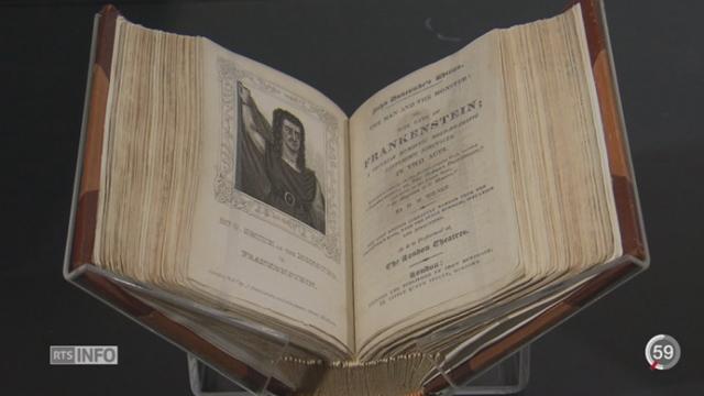 """GE: une exposition à la Fondation Bodmer retrace l'histoire de """"Frankenstein"""" de Mary Shelley [RTS]"""