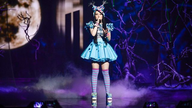 La candidate allemande Jamie-Lee à l'Eurovision 2016 en Suède. [EPA/MAJA SUSLIN - Keystone]