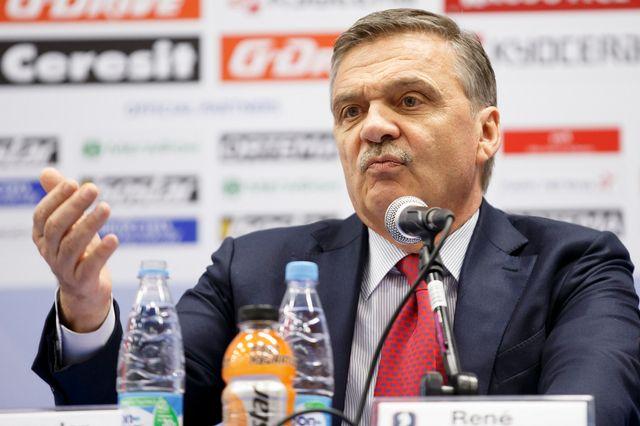 René Fasel est la tête de la Fédération internationale de hockey depuis 1994. [Salvatore Di Nolfi - Keystone]