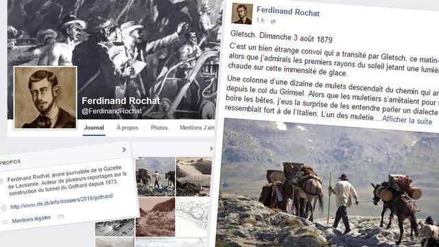 La page Facebook de Ferdinand Rochat. [RTS]