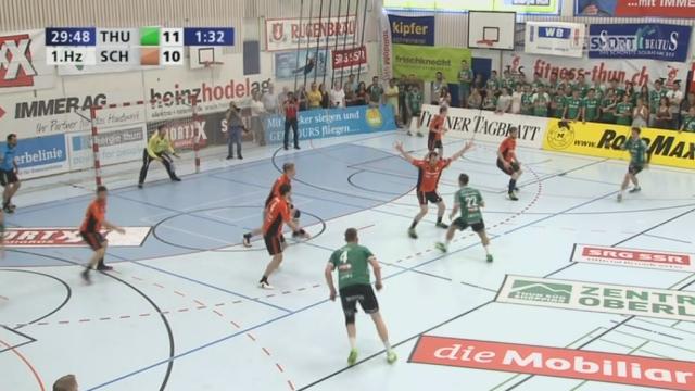 Finale, match 4, Thoune - Schaffhouse (11-10): les Bernois rentrent au vestiaire avec un petit avantage à la pause [RTS]