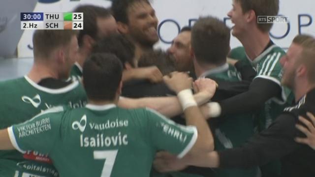 Finale, match 4, Thoune - Schaffhouse (25-24): Thoune s'impose grâce à une réussite dans les dernières secondes [RTS]