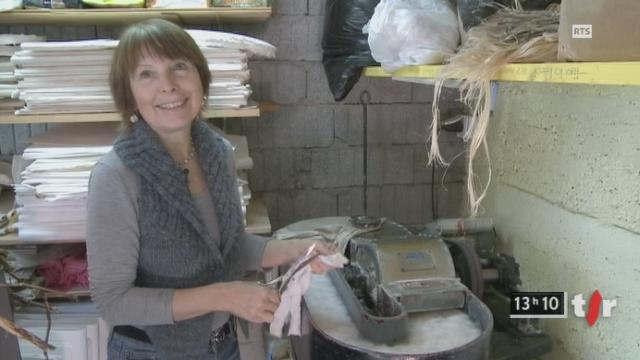 Viviane Fontaine, artiste sur papier. [RTS]