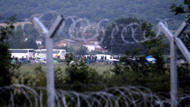 Le camp grec d'Idomeni à la frontière entre la Grèce et la Macédoine. [Darko Bandic - AP/Keystone]
