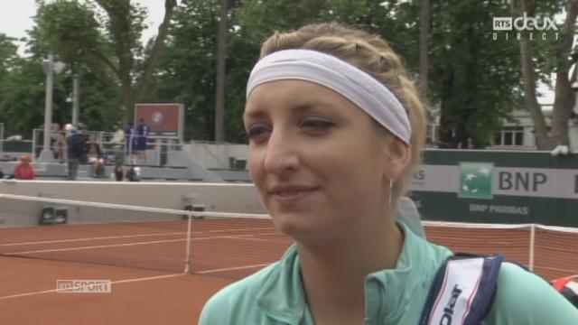 La réaction de Timea Bacsinszky après son match [RTS]