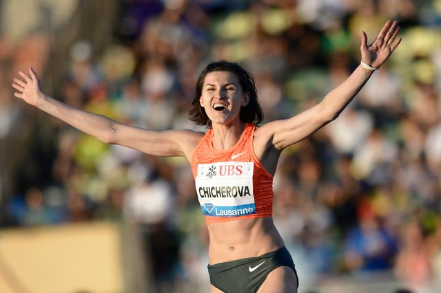 Anna Chicherova avait participé à Athletissima le 9 juillet dernier. [Jean-Christophe Bott - Keystone]