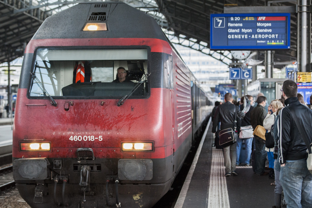 Un train CFF en gare de Lausanne (image d'illustration).