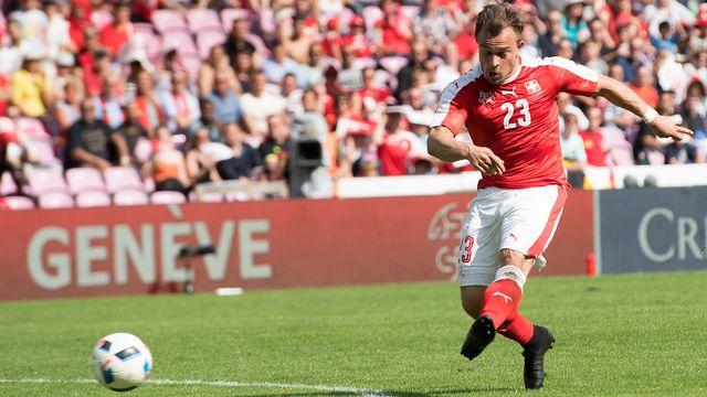 Le rendement offensif de l'équipe de Suisse doit beaucoup à Shaqiri. [Jean-Christophe Bott - Keystone]