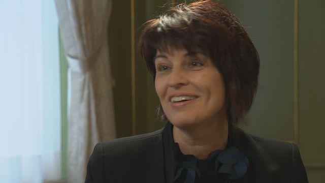 Doris Leuthard, au cours de l'entretien qu'elle a accordé à Romaine Morard.