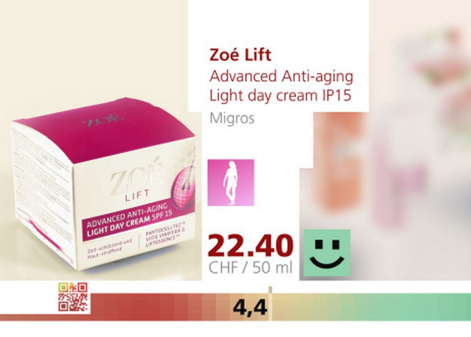 Advanced anti aging light day cream ip15 de zo 233 lift