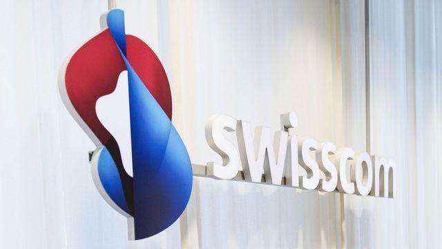 Logo de Swisscom. [Christian Beutler - Keystone]