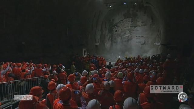 Tunnel du Gothard: coup de projecteur sur cette construction [RTS]