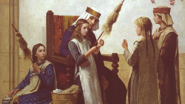 La reine Berthe et les fileuses d'Albert Anker [Albert Anker - © Musée cantonal des Beaux-Arts de Lausanne]