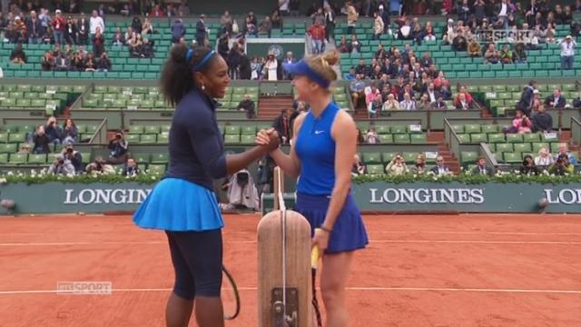 1-8 dames, S. Williams (USA) – E. Svitolina (UKR) (6-1, 6-1): victoire facile pour Serena Williams [RTS]