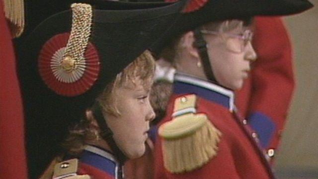 Cérémonie d'ouverture de la Fête fédérale de musique de Winterthour en 1986. [RTS]