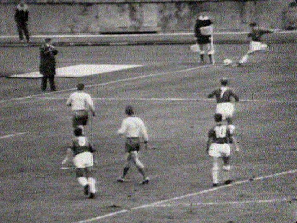 Match de qualification à la Coupe du monde 962 entre la Suisse et la Suède. [RTS]
