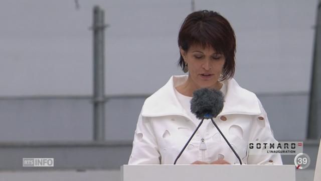 L'inauguration du tunnel du Gothard a été une journée forte symboliquement [RTS]