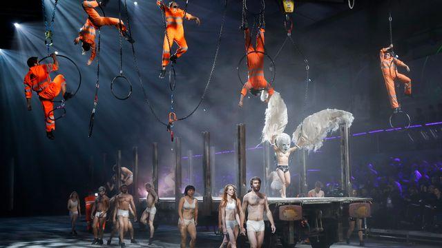 Le spectacle de l'inauguration du Gothard a été mis en scène par l'Allemand Volker Hesse. [Peter Klaunzer - Keystone]